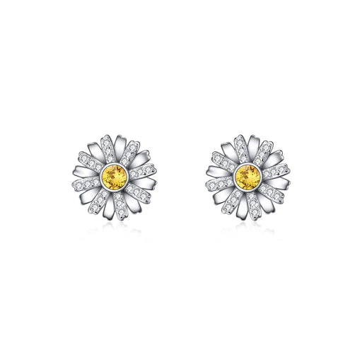 Flower Series Earrings Studs with Crystal Crystal,Gift for Women Girls