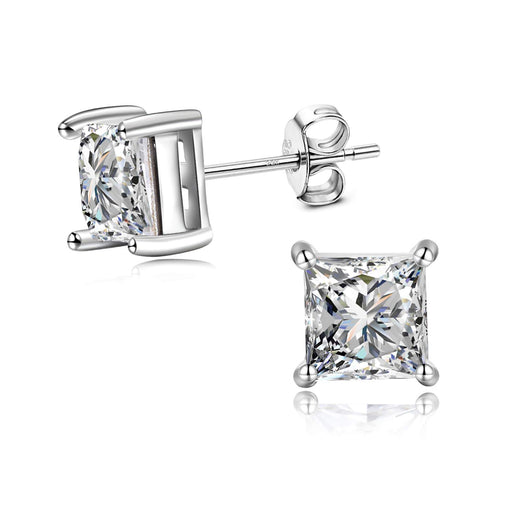 Sterling Silver Swarovski Crystal 5-7mm Hypoallergenic Stud Earrings