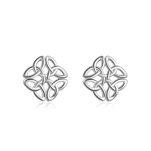 Celtic Knot Stud Earrings Irish Jewelry for Women Girls
