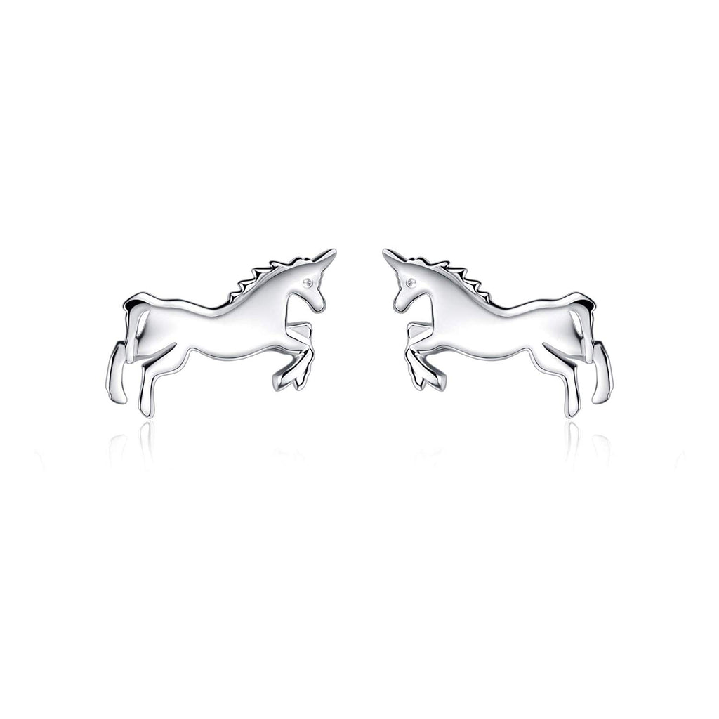 Sterling Silver Unicorn Earrings