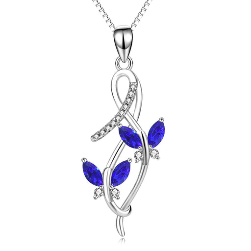 Butterfly Series Necklace Simulated Birthstone Crystal from Swarovski