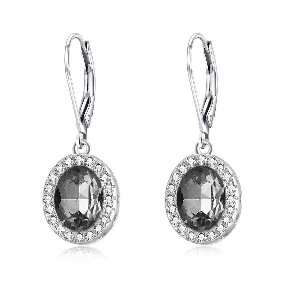 Halo Series Earrings Leverback Earrings with Swarovski Crystal