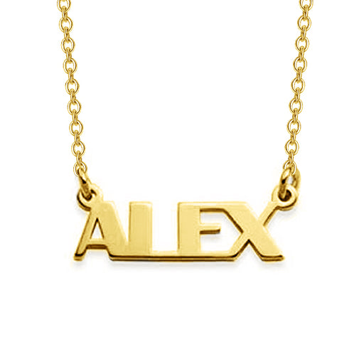 "ALEX - 925 Sterling Silver/10K/14K/18K Personalized Capital Letters Name Necklace Adjustable 16""-20"""