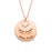 "You and Me Copper/925 Sterling Silver Personalized Engravable  Necklace -Adjustable 16""-20"""