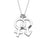 "925 Sterling Silver Personalized Simple Gender Symbol Necklace Adjustable 16""-20"""