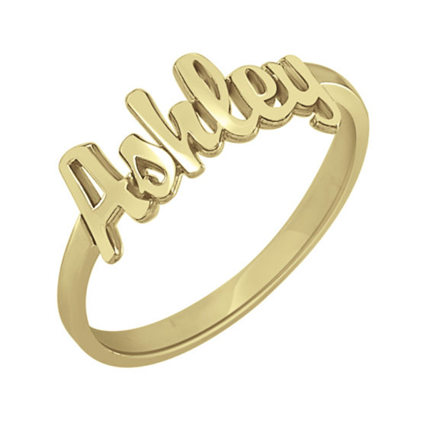 10K/14K Gold Personalized Script Name Ring