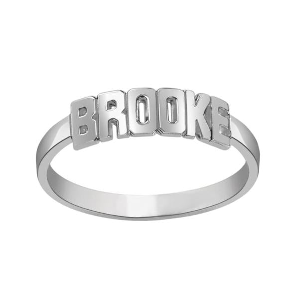 925 Sterling Silver Personalized Name Ring