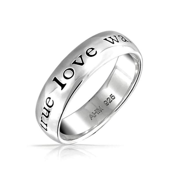925 Sterling Silver Personalized Engraved Ring