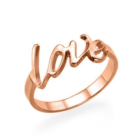 Copper/925 Sterling Silver Personalized Love Ring