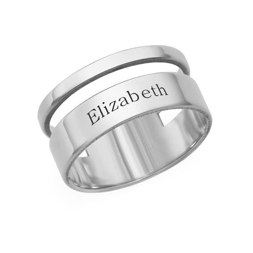 925 Sterling Silver Personalized Engraved  Rings