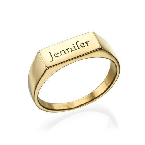 925 Sterling Silver Personalized Engraved Signet Ring