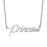 "925 Sterling Silver Personalized Tiny Charm Necklace Adjustable Chain 16""-20"""