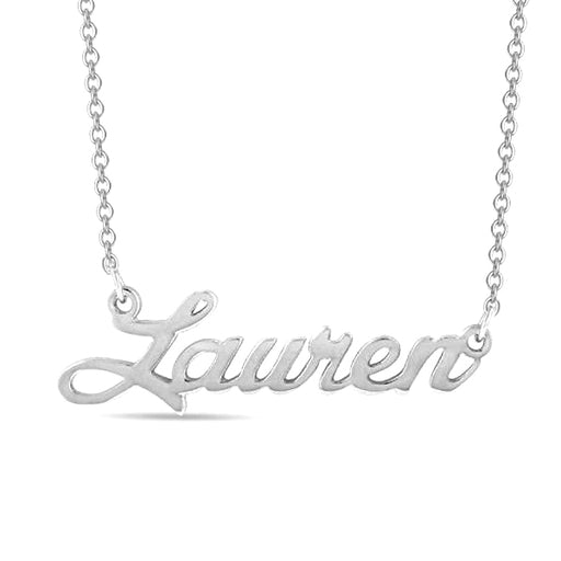 """Lauren""-Copper/925 Sterling Silver Personalized Classic Name Necklace Adjustable 16""-20"""