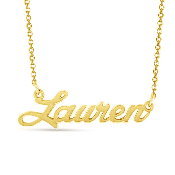 "Lauren - Copper/925 Sterling Silver Personalized Classic Name Necklace Adjustable 16""-20"""