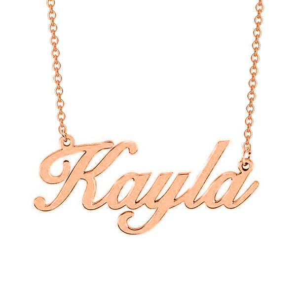 "Kayla - 925 Sterling Silver Personalized Classic Name Necklace Adjustable 16""-20"""