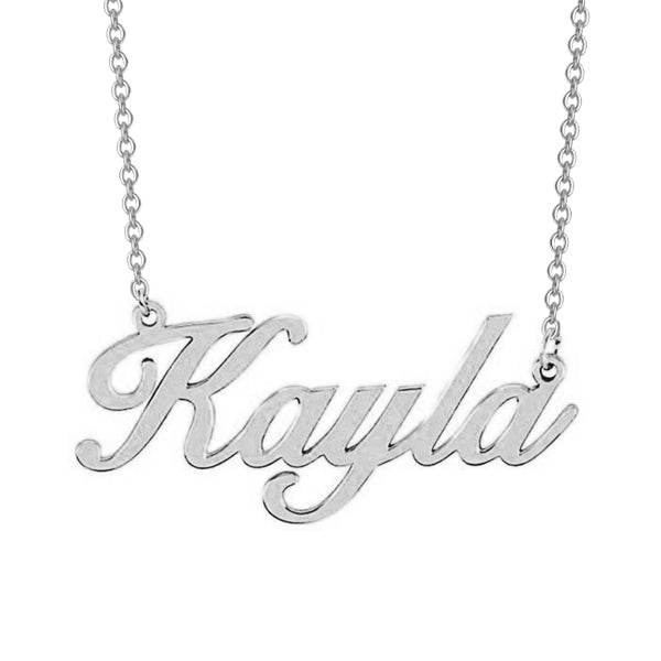 "925 Sterling Silver Personalized Classic Name Necklace Adjustable 16""-20"""