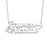 "925 Sterling Silver Personalized Double Name Necklace with Cut Out Heart Adjustable 16""-20"""