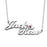 "Jack❤Rose925 Sterling Silver Personalized Double Name Necklace With Birthstone Heart Adjustable 16""-20"""