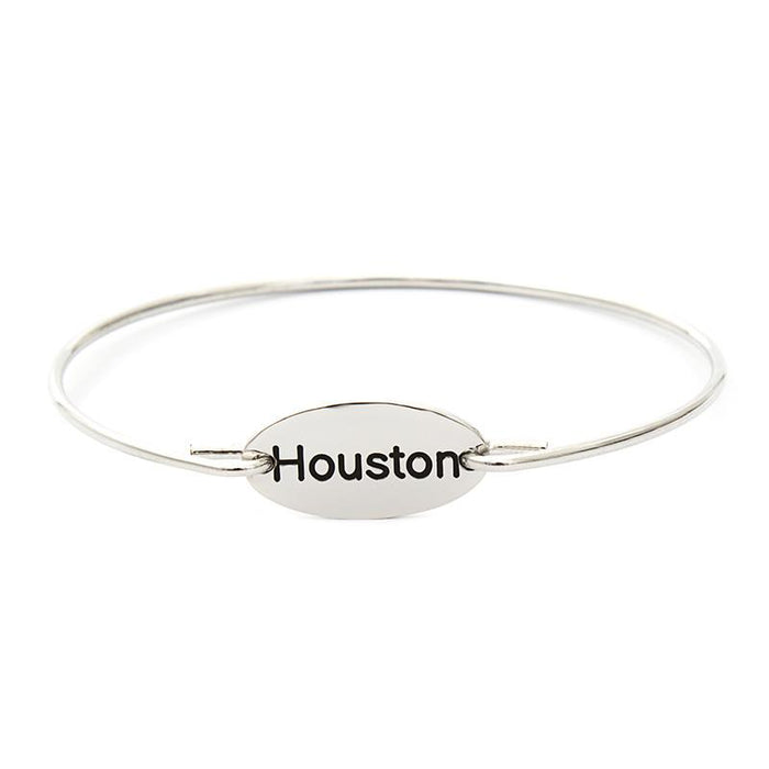 925 Sterling Silver Personalized City Name Bangle