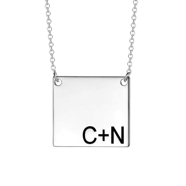 "Personalized 925 Sterling Silver  Initial Necklace-Adjustable 16""-20"""