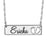 "Step By Step 925 Sterling Silver  Personalized Name Necklace Adjustable 16""-20"""