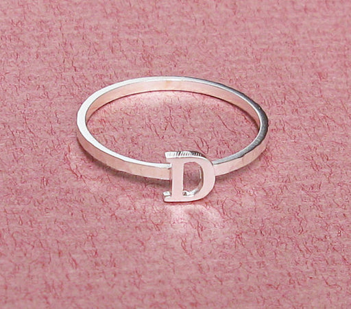 Personalized Sterling Silver Stacking Name Ring
