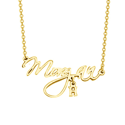 "Copper/925 Sterling Silver Adjustable 16""-20"" Personalized Handcrafted Name Necklace-White Gold/Yellow Gold Plated"