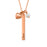"Copper/925 Sterling Silver Personalized Bar Necklace With Heart Charm And Pearl Adjustable 16""-20"""