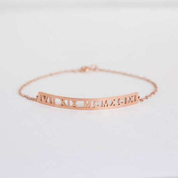 "925 Sterling Silver Personalized Coordinate or Initial Name Bracelet Adjustable 6""-7.5"""