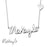 Makayla - 925 Sterling Silver Adjustable Chain Signature Necklace with Heart Charm