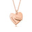 "Copper/925 Sterling Silver Personalized Double Heart Necklace for New Mom -Adjustable 16""-20"""