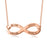 Infinity Necklace With 4 Names-Plated Yellow Gold