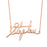 "Copper/925 Sterling Silver Personalized  Signature Necklace  Adjustable 16""-20"""
