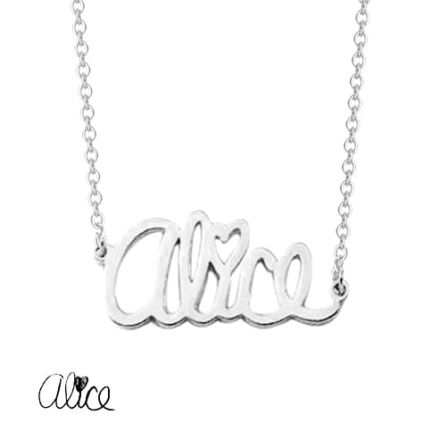 "925 Sterling Silver Personalized Dainty Signature Necklace Adjustable 16""-20"""