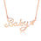 "925 Sterling Silver Personalized Name or Text Butterfly Necklace-Adjustable 16""-20"""