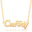 "Sweet Love-- Hollow Out Heart 925 Sterling Silver Name Necklace Adjustable 16""-20"""
