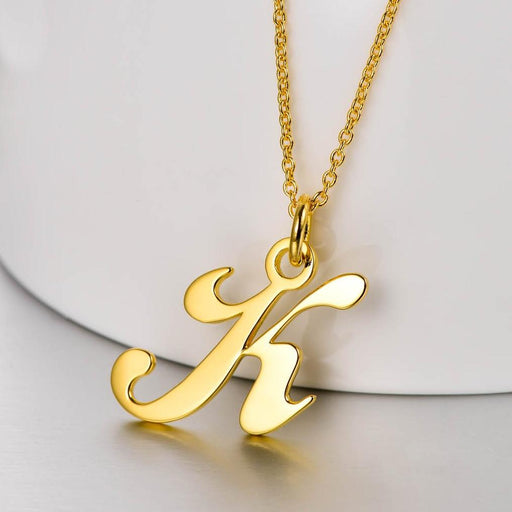 Copper Classic Initial Pendant Personalized Name Necklace-Letters A-Z