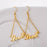 Copper/925 Sterling Silver Personalized Triangle Name Earrings