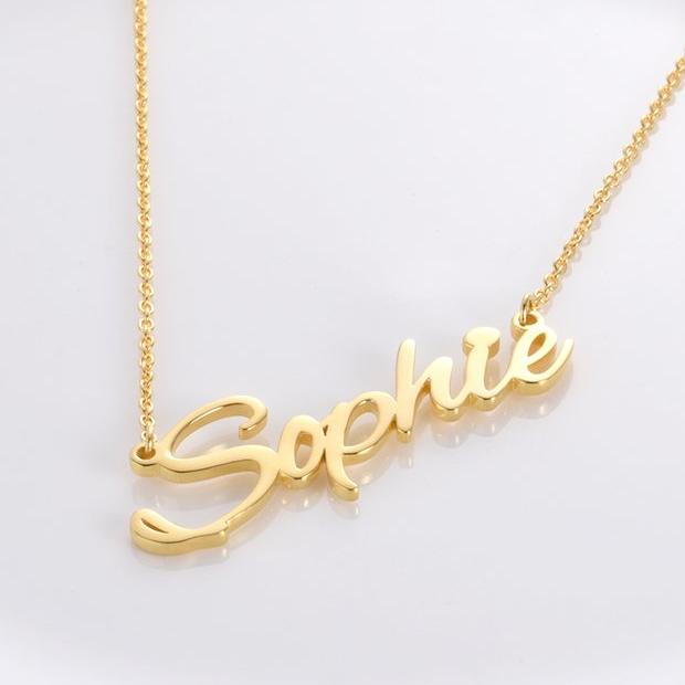 Sophie Style Copper 925 Sterling Silver Personalized Name Necklace Adjustable 16 20