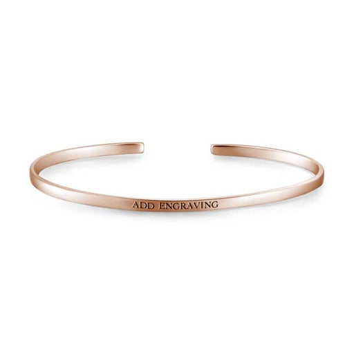 14K Gold Personalized Engravable Bangle -Small