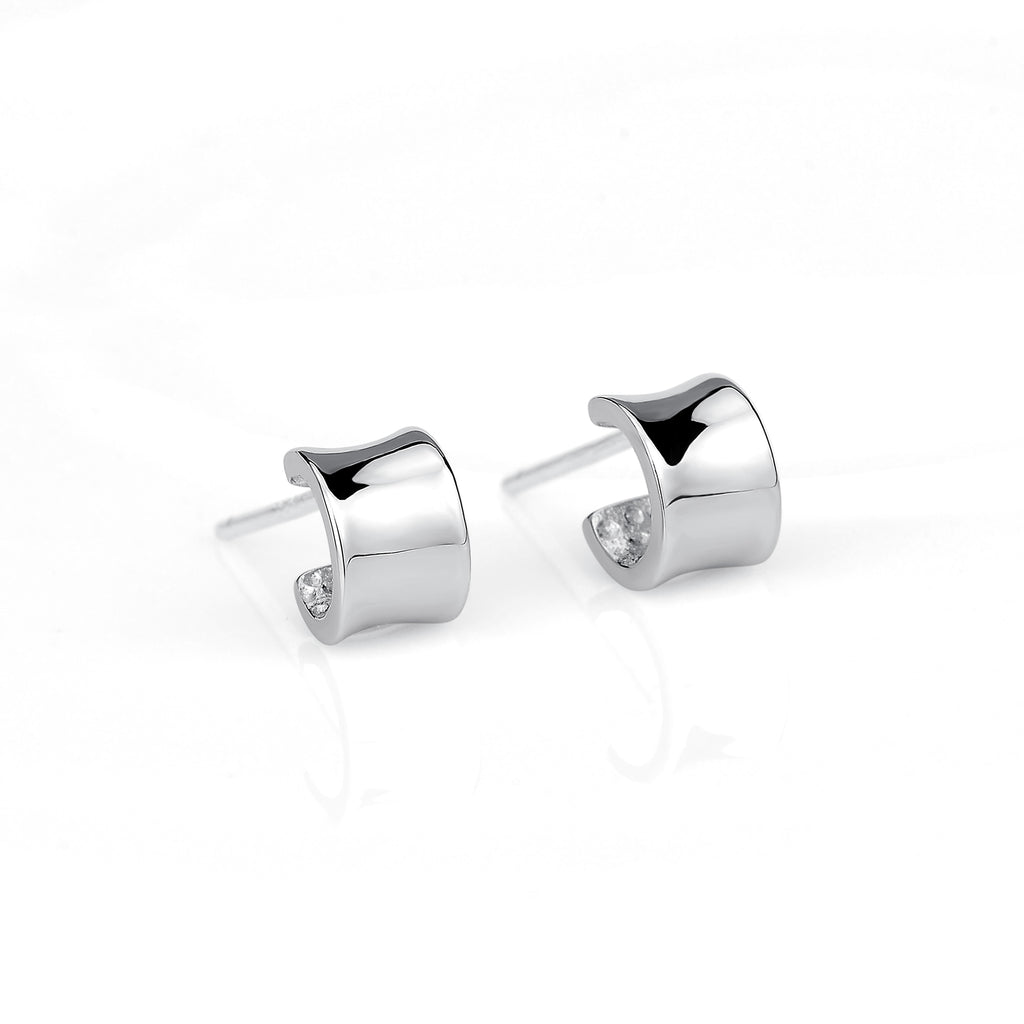 925 Sterling Silver Geometric Shape Studs