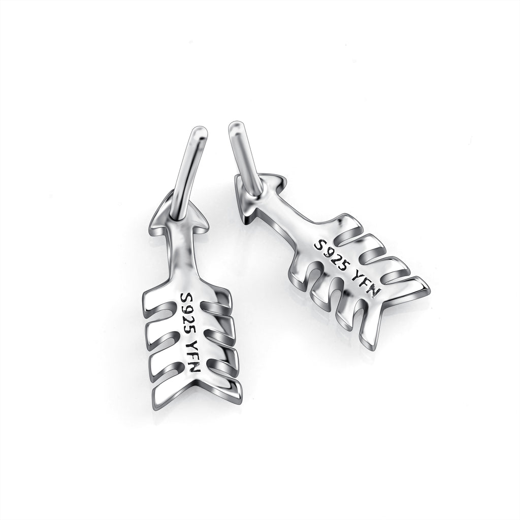 925 Sterling Silver Arrow Style stud earring