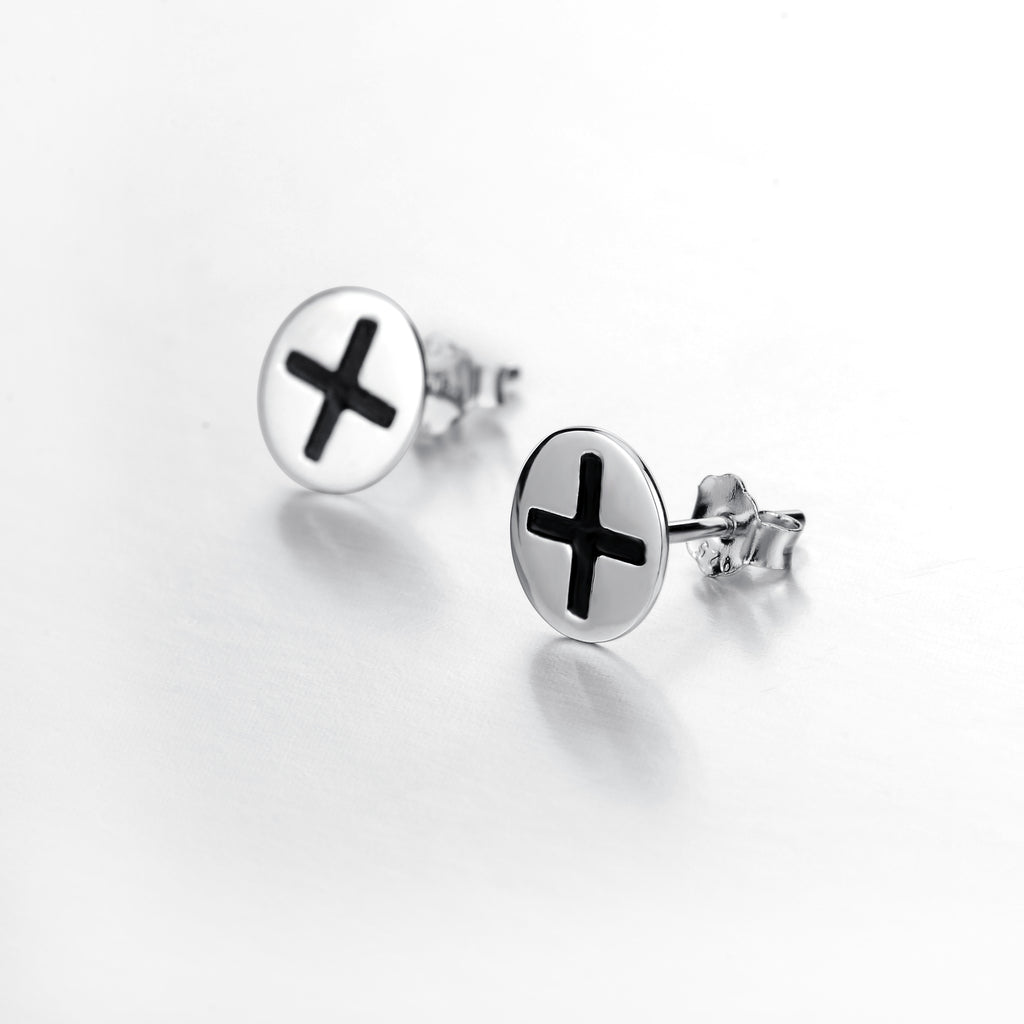 925 Sterling Silver Personality Button Studs