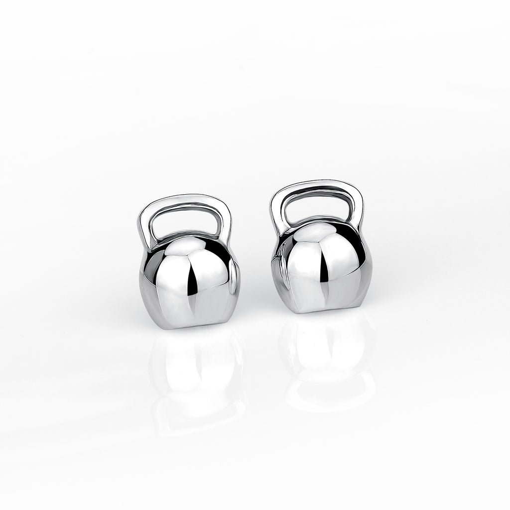 925 Sterling Silver Kettle Bell Style Studs