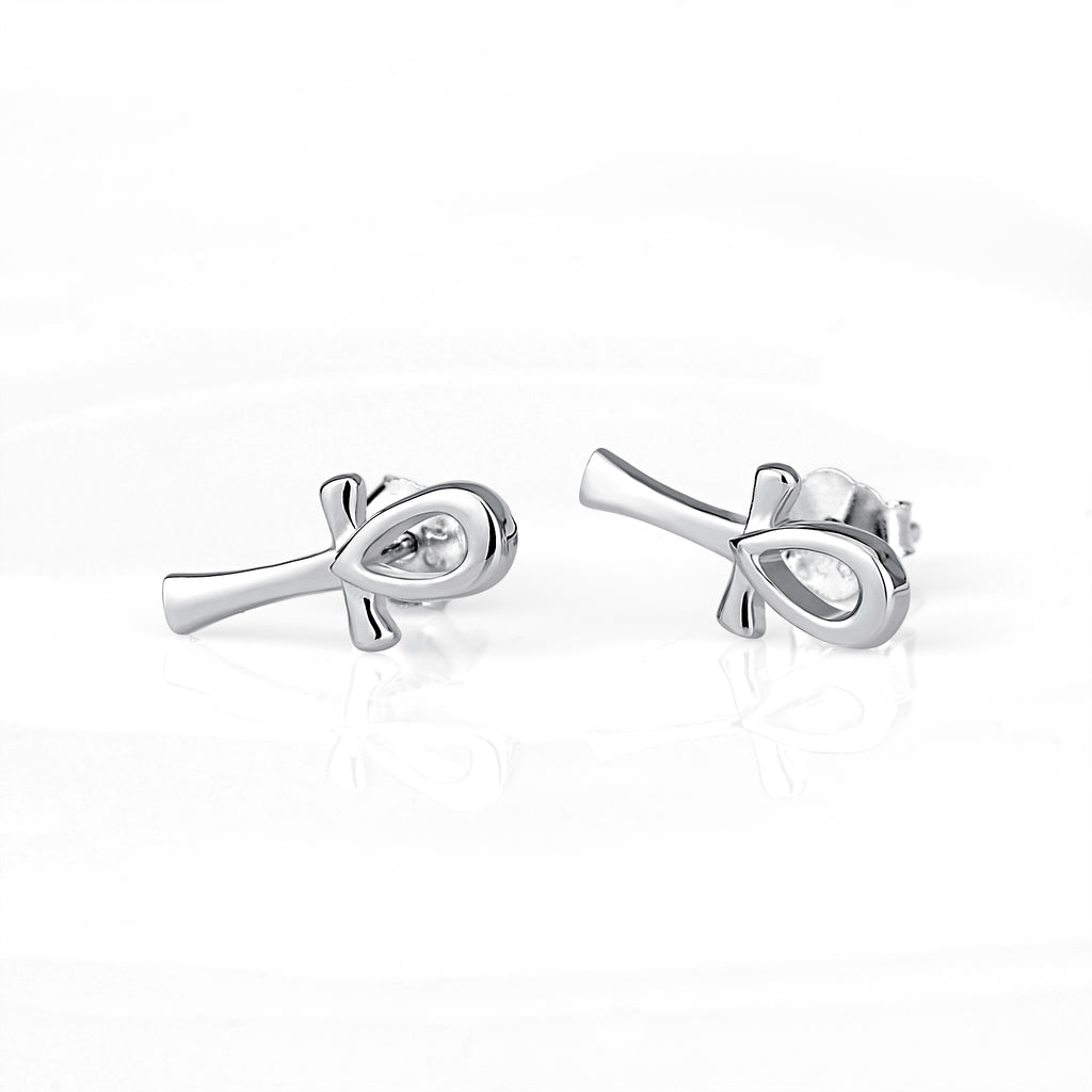 925 Sterling Silver Simple Natural Little Man Studs