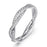925 Sterling Silver Sparkling Knot Ring Love Ring Wedding Ring for New Couple