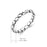 925 Sterling Silver Love Knot Heart Ring Wedding Ring for New Couple Gift for Woman