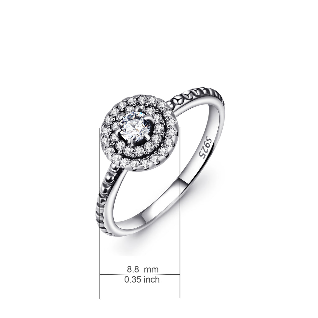 925 Sterling Silver  Jewelry Ring Wedding Ring for Woman