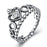 925 Sterling Silver Princess Imperial Crown Heart Ring Shinning Zircon Wedding Ring