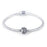 925 Sterling Silver Fashion Hollow Braided Cubic Zirconia Charm For Bracelet and Necklace